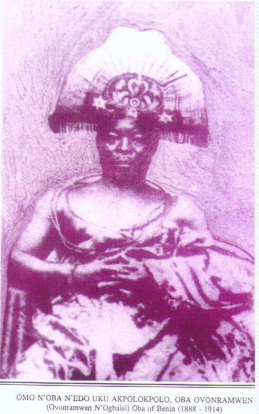 Oba Ovonramwen Nogbaisi (1888 - 1914)